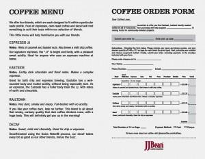 JJBean order form